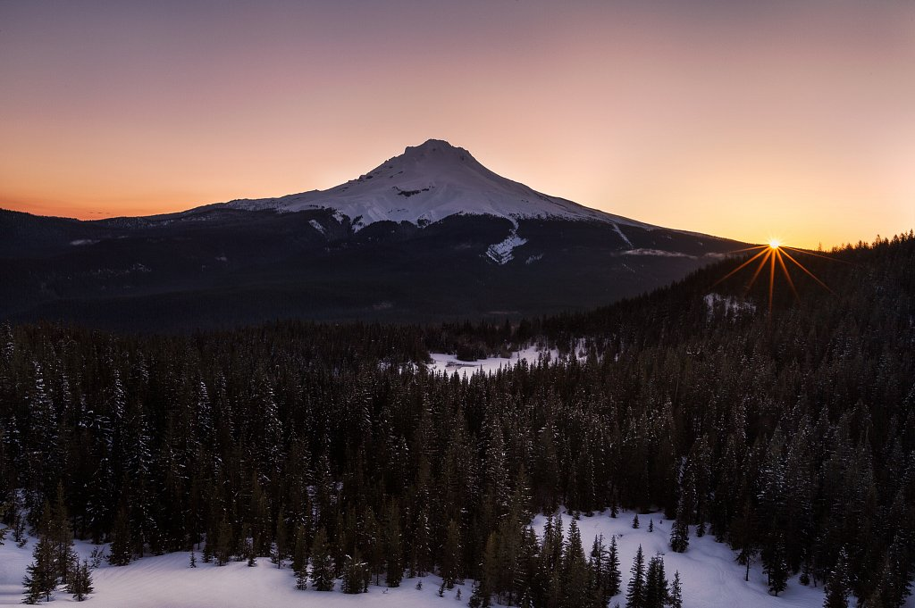 Mt Hood Sunrise from Tom Dick and Harry, OR