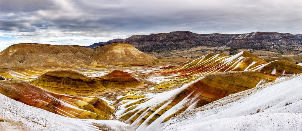 Painted Hills in Snow